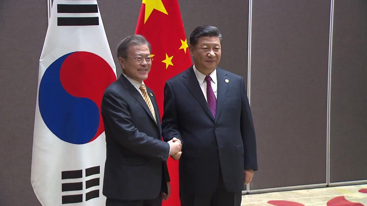"""[속보] 한중 정상회담 종료...""""중국의 한반도 비핵화 기여에 감사"""""""