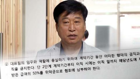 김호철 자격정지 3개월로 감경...전임감독 계약서 단독입수