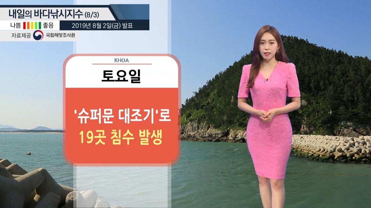 [내일 바다낚시지수] 8월 3일 19곳 침수 피해, 폭염특보, 안개, 강풍…낚시 삼가야