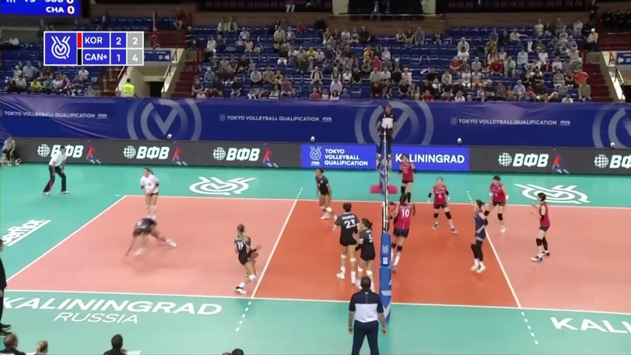 여자배구, 올림픽 예선 첫 경기 역전승