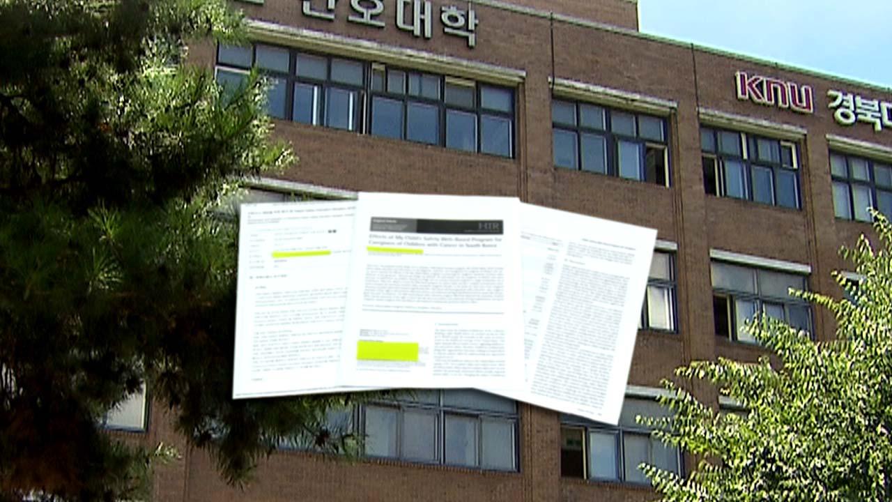 """[단독] 곳곳에 논문 표절 의혹...학교는 """"나 몰라"""""""