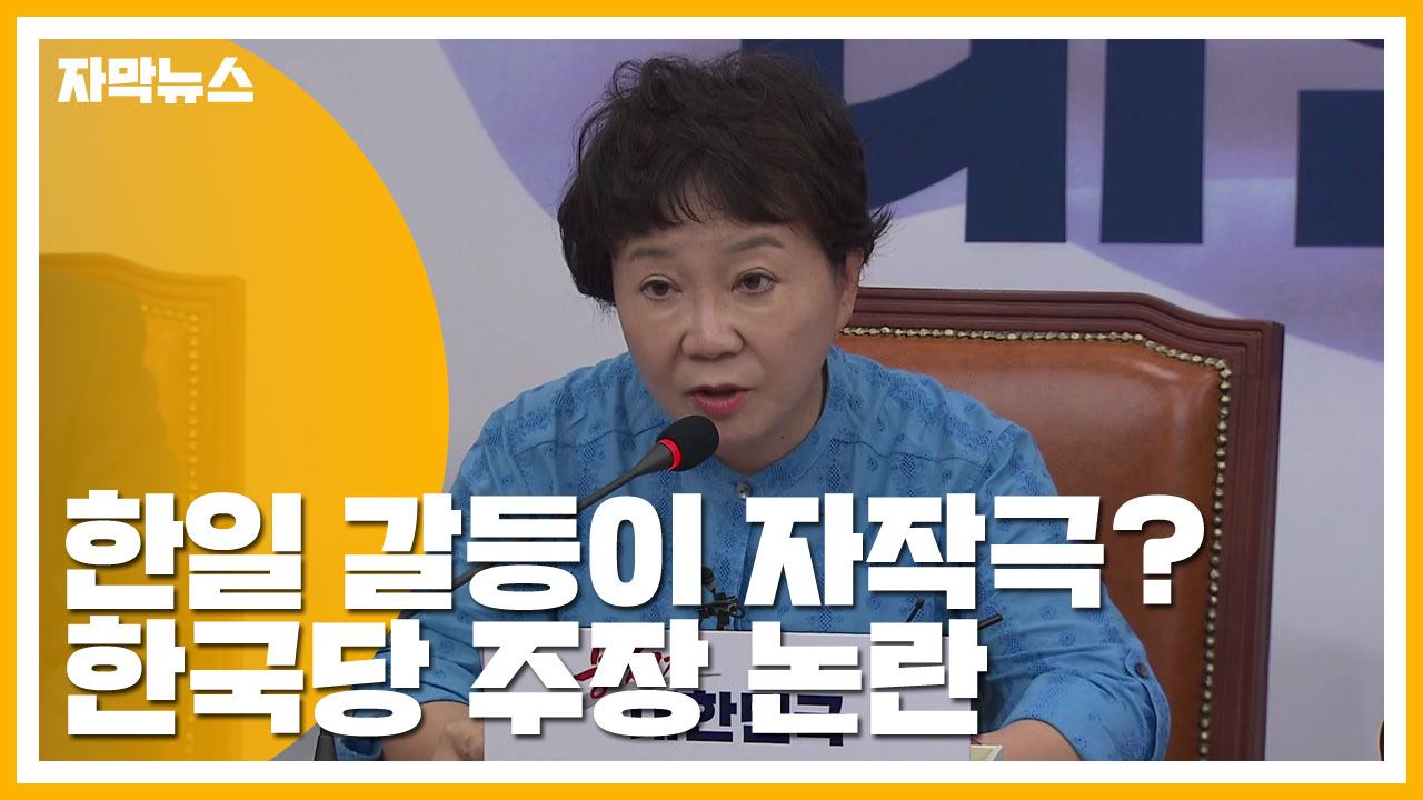 [자막뉴스] 한일 갈등이 文 정부 자작극? 한국당 주장 논란