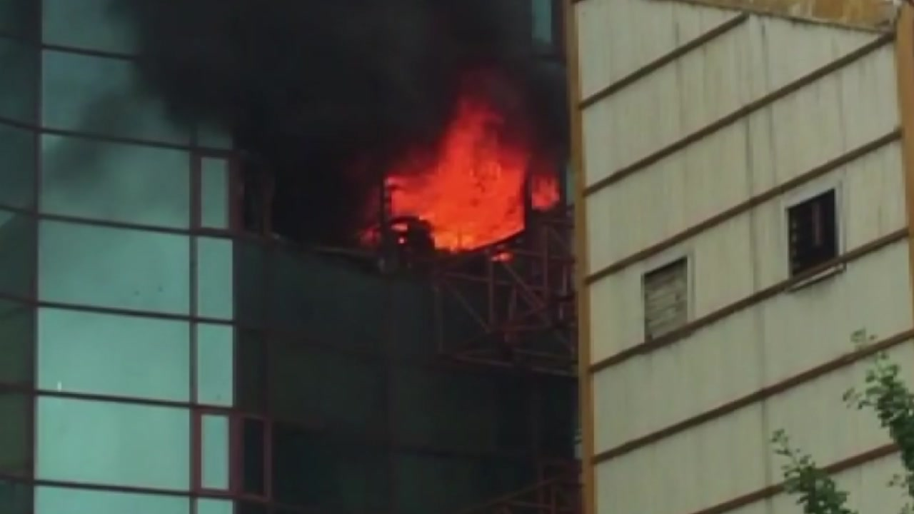 서울 남대문오피스텔 화재...대응 1단계 발령