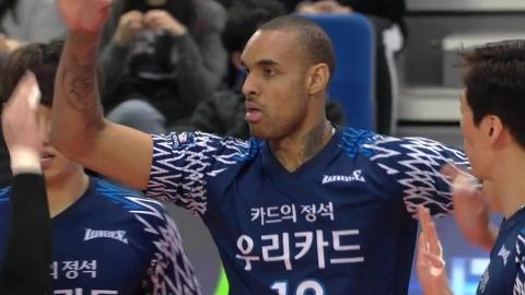 '허리 통증 호소' 아가메즈, 우리카드와 결별