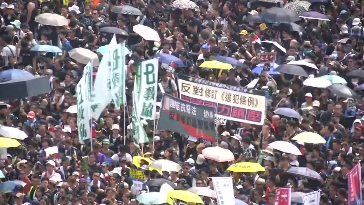 """홍콩 주말에도 시위 이어져...""""자유 위해 싸우자"""""""