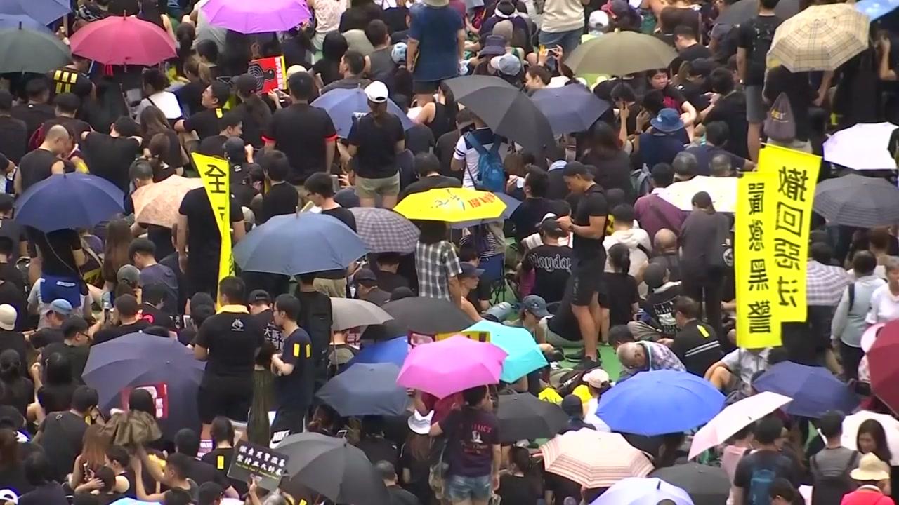 """홍콩 정부 """"폭력 시위자 응징할 것"""" 강력 경고"""