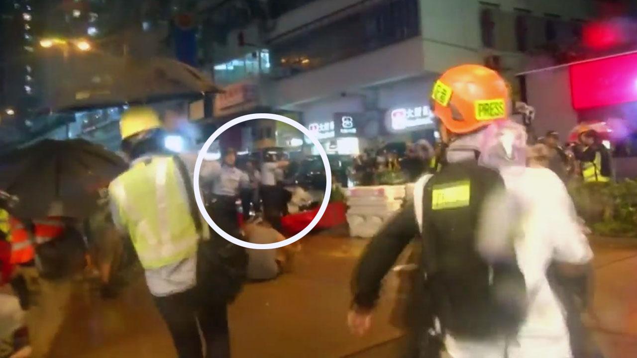 홍콩 시위 또 극렬 충돌...경찰, 경고용 실탄 발사·물대포 등장