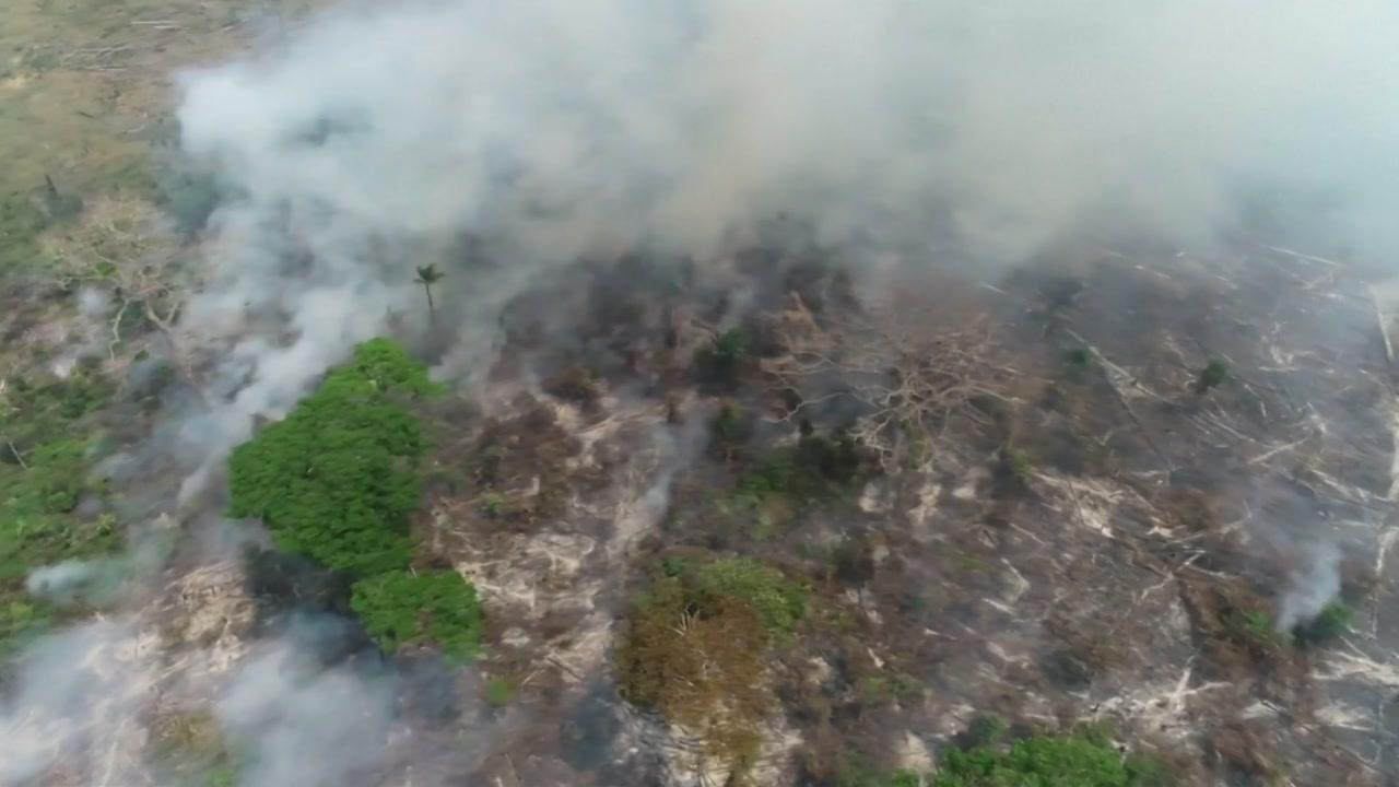 브라질, G7 산불 진화 지원 제안 거부