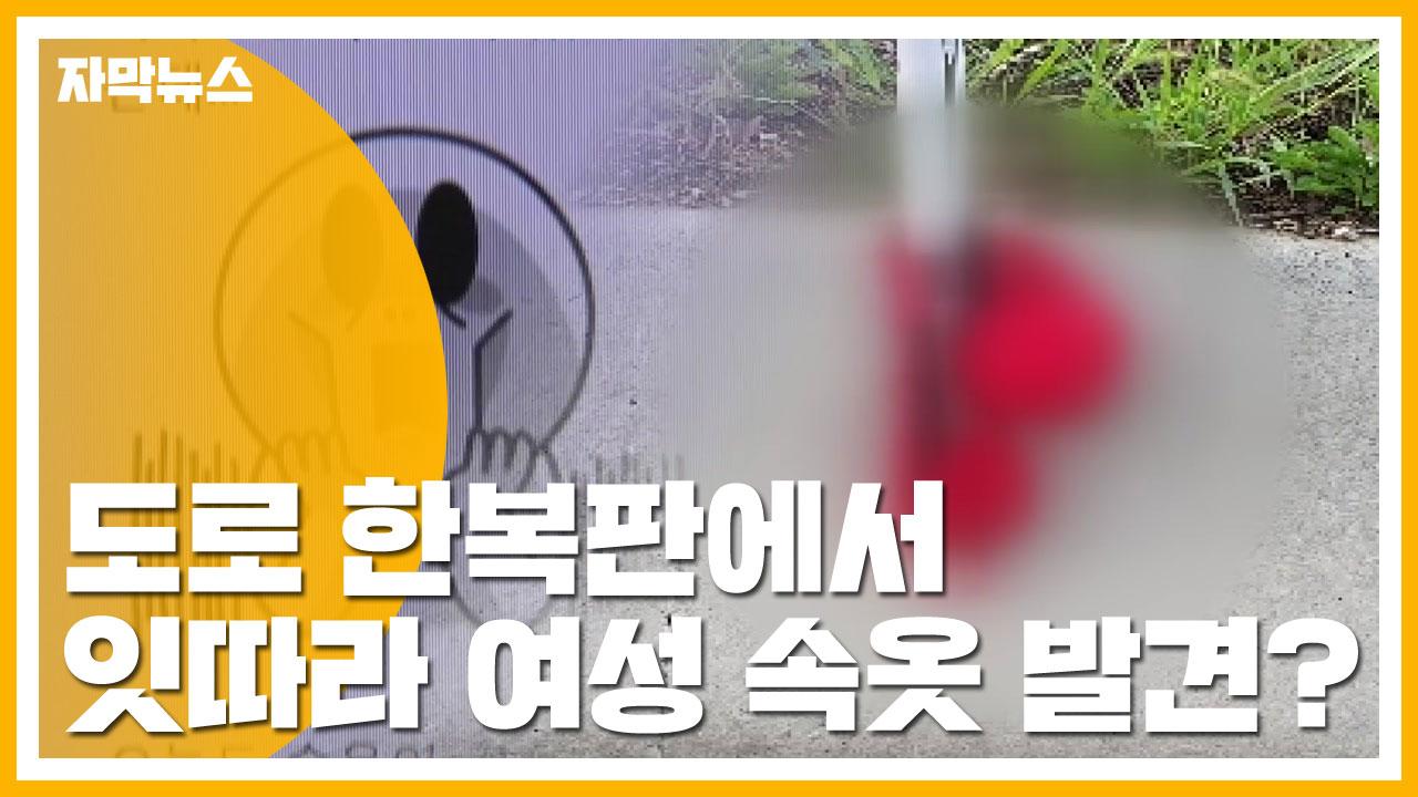 [자막뉴스] 도로 한복판에 걸린 '여성 속옷'...누가? 왜?