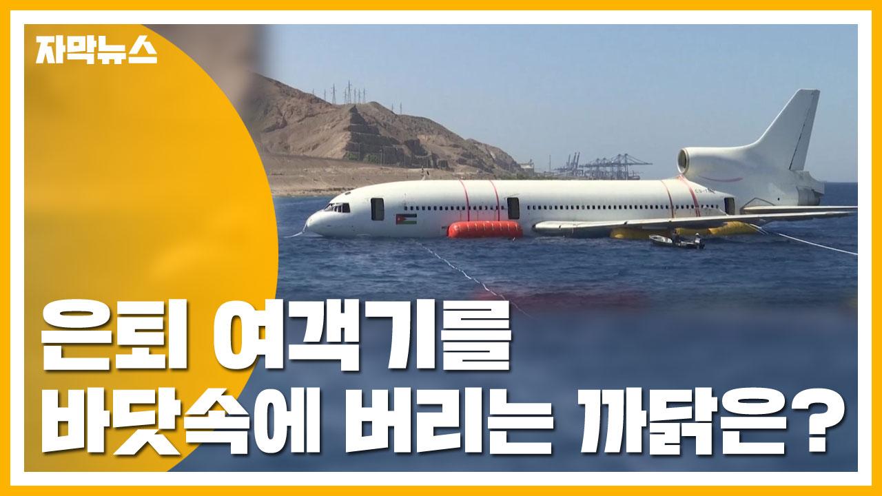 [자막뉴스] 은퇴 여객기를 바닷속에 버리는 까닭은?