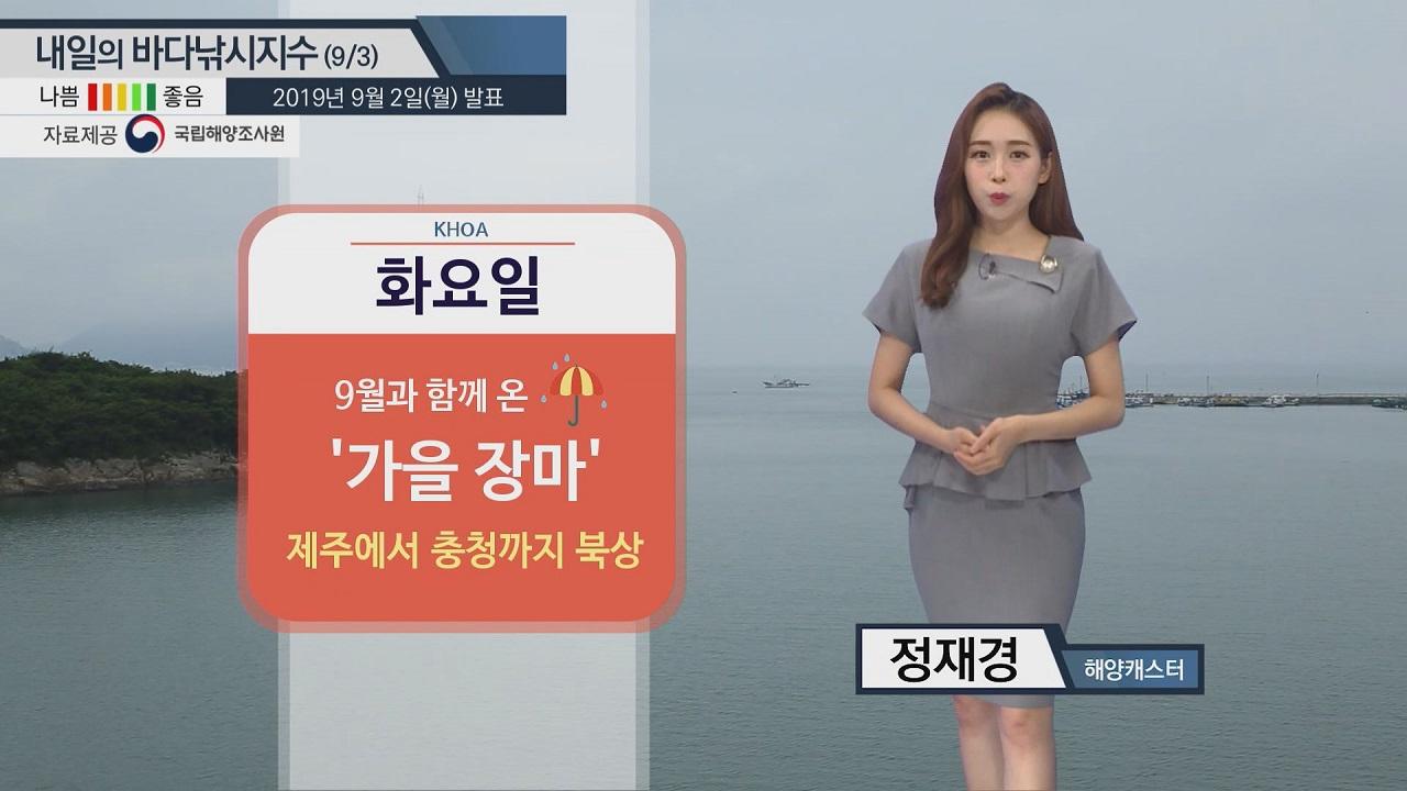 [내일의 바다낚시지수] 이번 주 계속 비소식...저지대에선 '대조기'의 영향으로 침수 위험