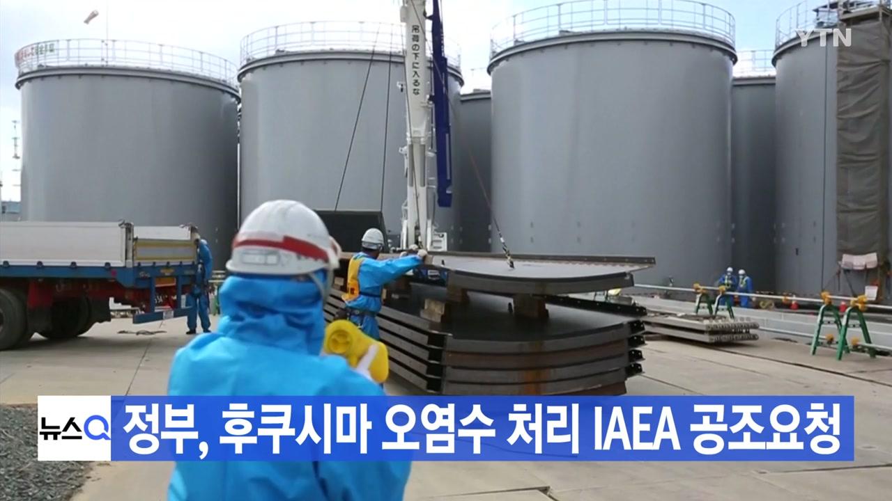 [YTN 실시간뉴스] 정부, 후쿠시마 오염수 처리 IAEA 공조요청
