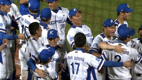 청소년야구, 일본에 연장 끝내기 승리