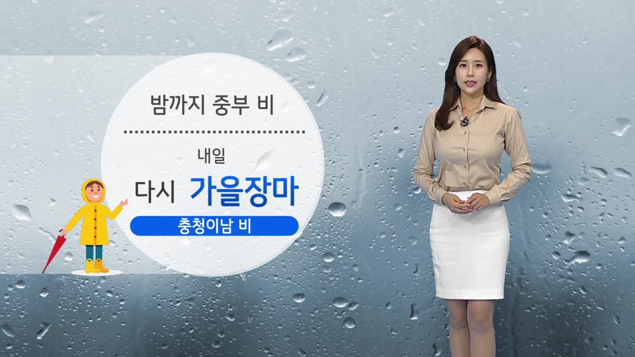 [날씨] 밤까지 중부 비...내일 다시 가을장마