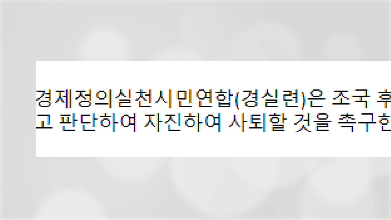 """경실련, 조국 자진 사퇴 촉구...""""개혁 동력 상실 우려"""""""