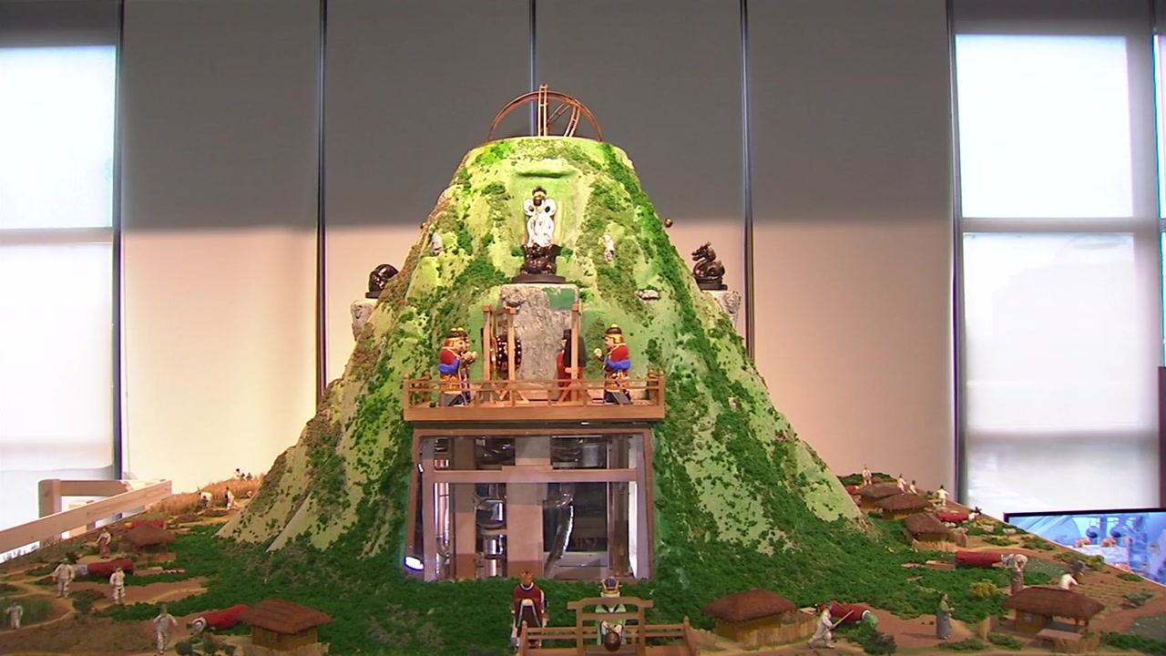 조선 시대 자동 물시계 '흠경각옥루' 581년 만에 복원