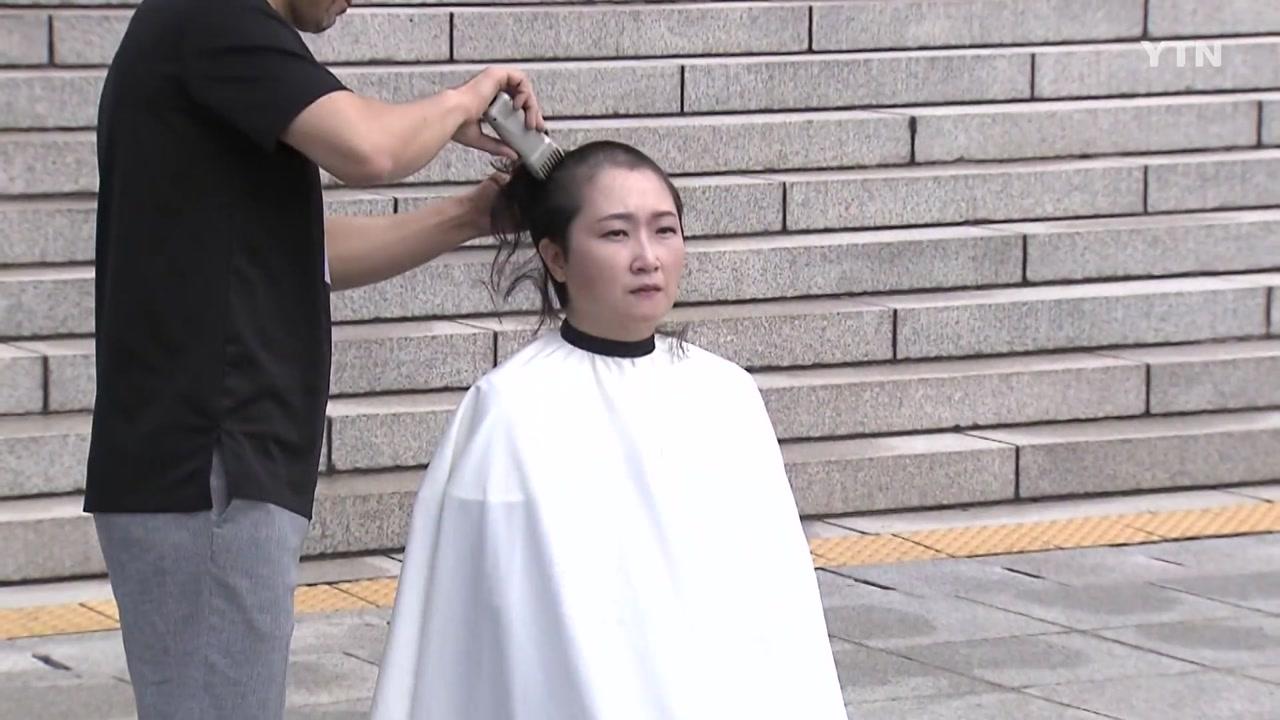 막 오른 '포스트 조국'...이언주, 울먹이며 돌연 삭발