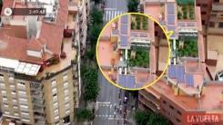 옥상에 대마초 심은 집주인, 사이클 중계 카메라에 덜미