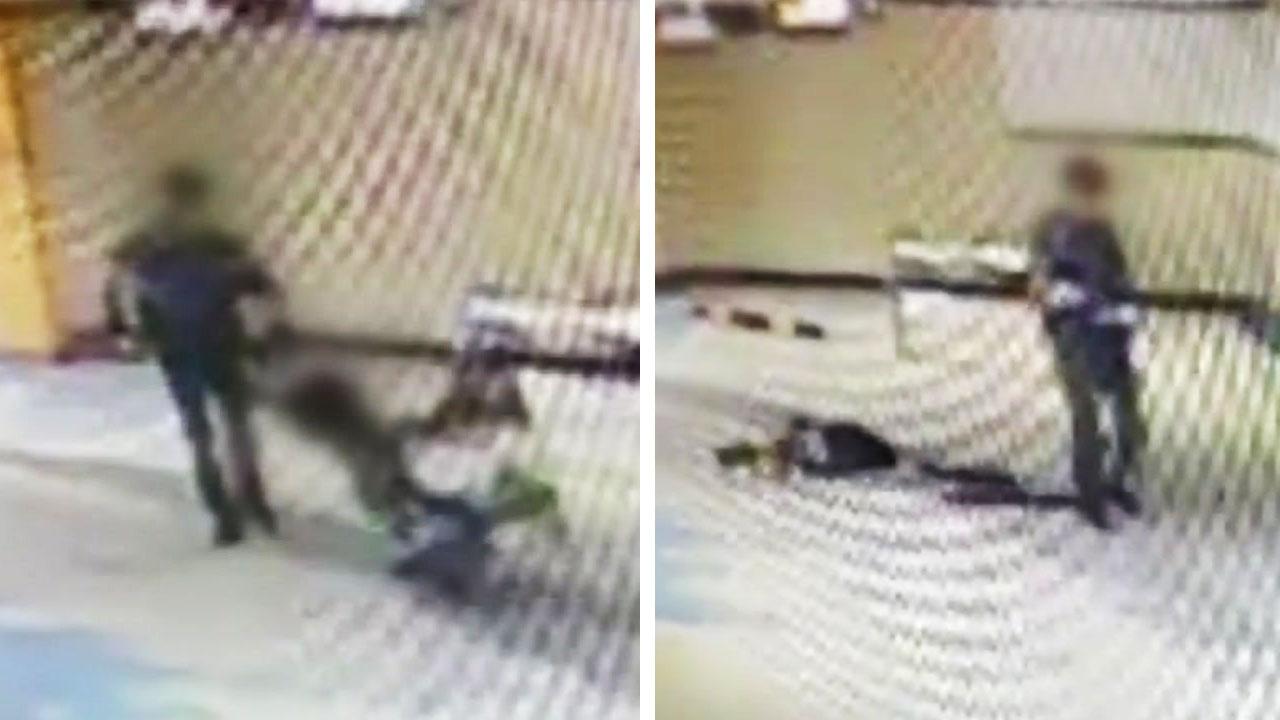 신고자 멱살 잡고 바닥에 패대기친 경찰 (영상)