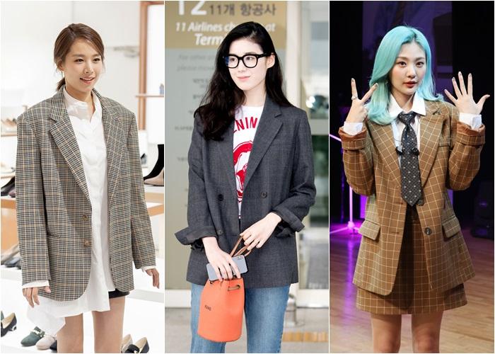 [Y패션] 조윤희·정은채·안지영, 체크 재킷 스타일링…가을 패션 퀸은?