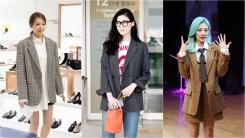 조윤희·정은채·안지영, 체크 재킷 스타일링…가을 패션 퀸은?