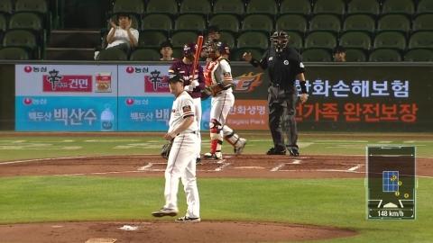 채드벨, 8이닝 무실점...한화 외국인 투수 동반 10승