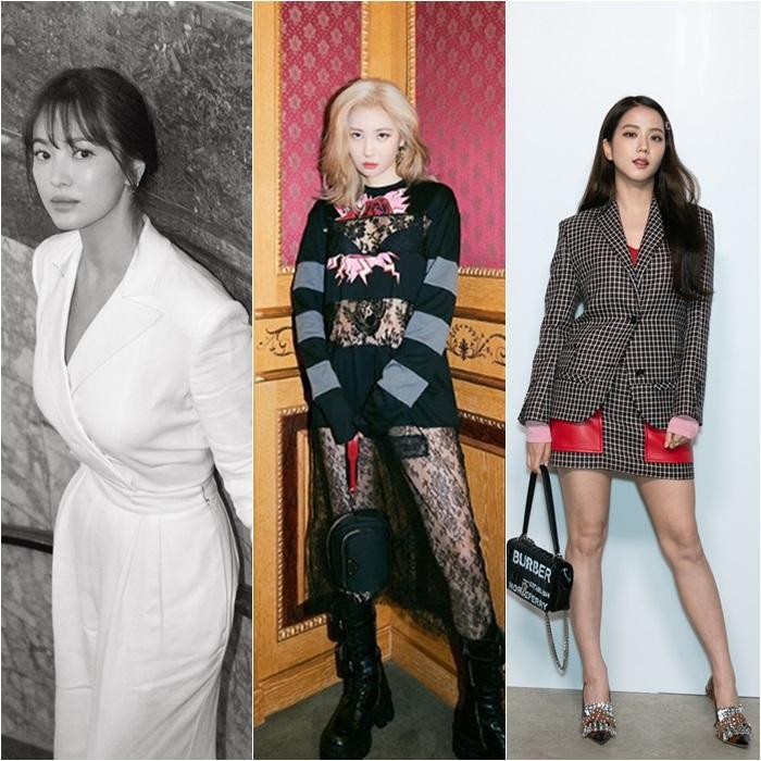 [Y패션] 송혜교X선미X지수, 뉴욕·런던·밀라노 빛낸 글로벌 패셔니스타