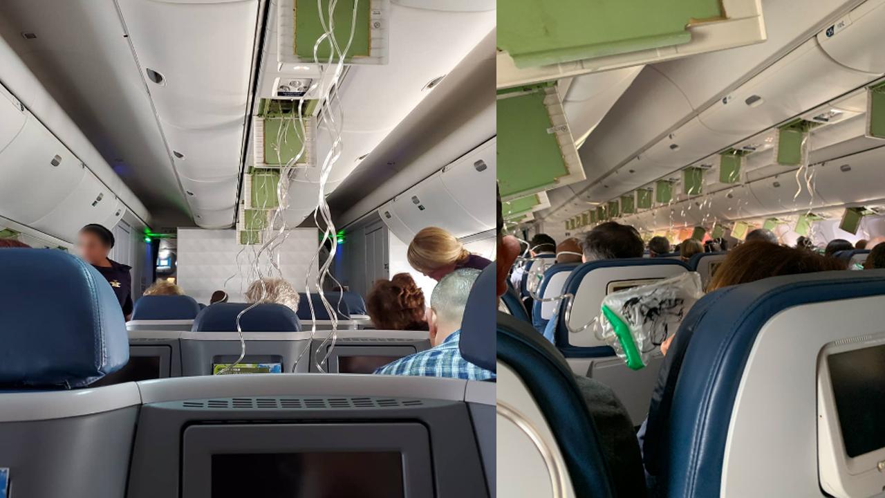美 델타항공 여객기, 9천미터 급하강...승객들 아비규환