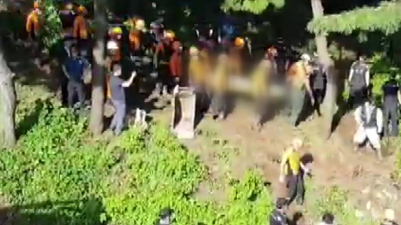 부산 산사태 4명 매몰...실종자 1명 숨진 채 발견