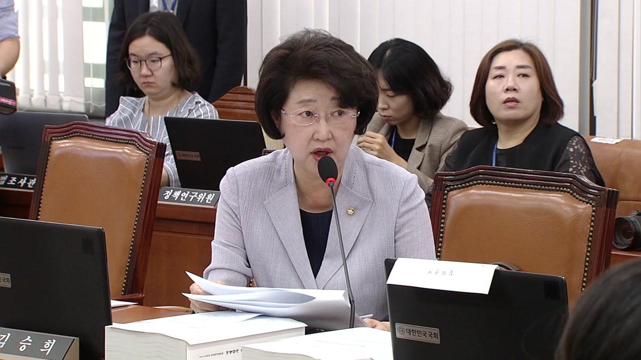 자유한국당 김승희 의원, 여당 의원 맞제소