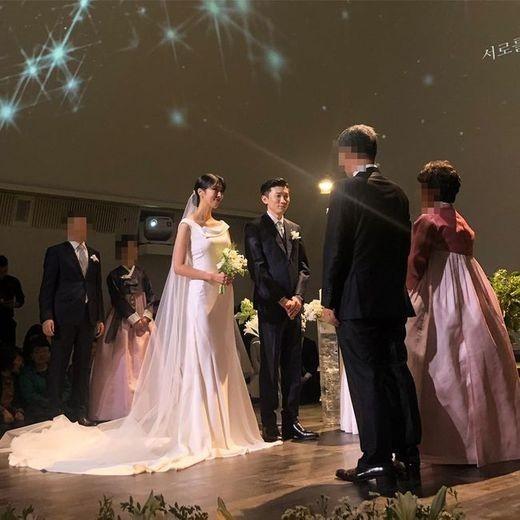 """프라이머리♥남보라 결혼식 사진 공개...배정남 """"축하한데이"""""""