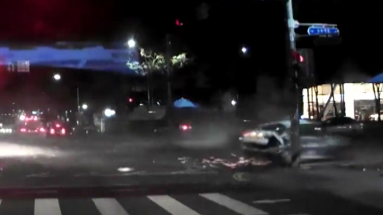 음주운전 승용차가 택시에 '쾅'...1명 숨져