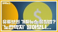 [자막뉴스] 유튜브의 가짜뉴스 응징법? '노란딱지' 알아보니...