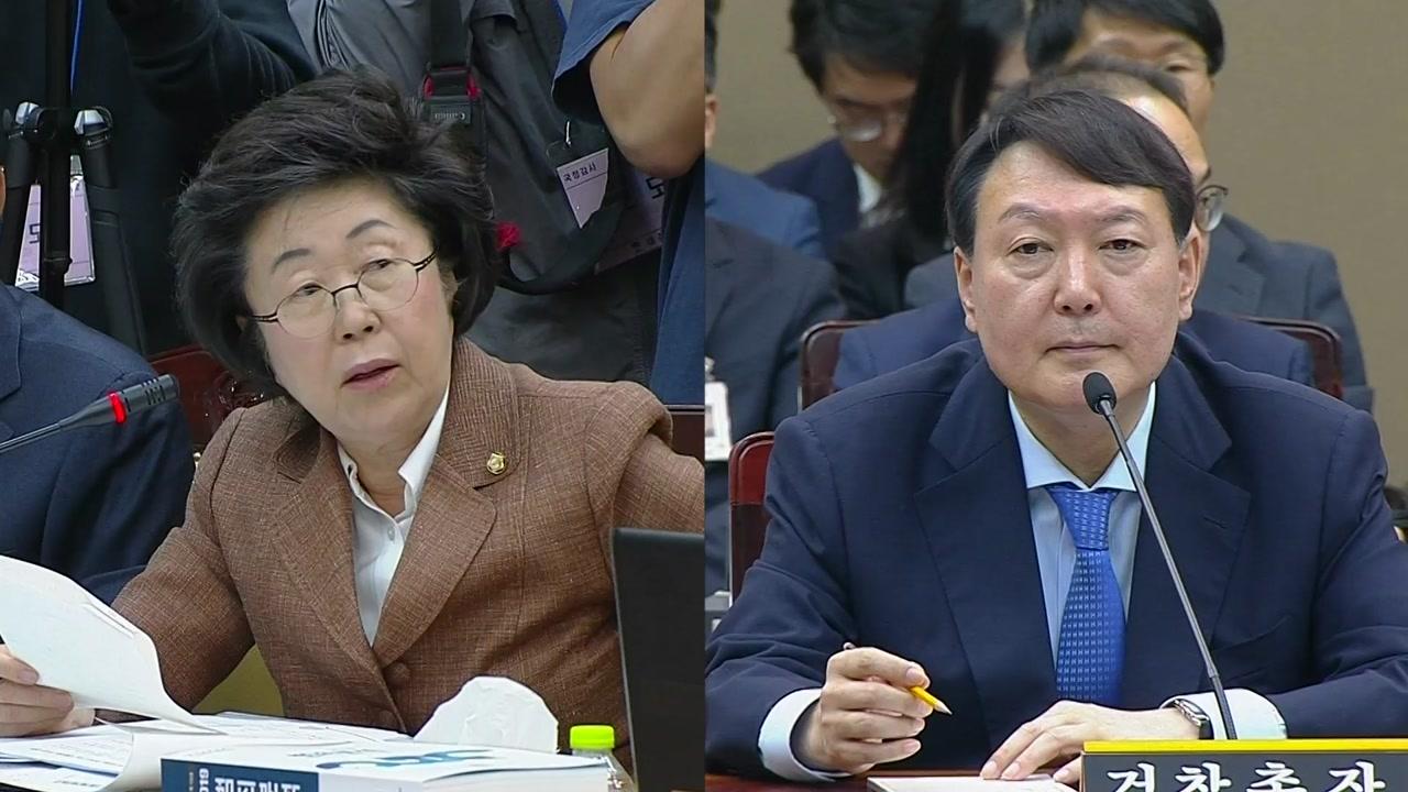 """[국정감사 현장영상] """"국가의 검찰권 조롱, 어떻게 생각하나""""에 대한 윤석열 답변"""
