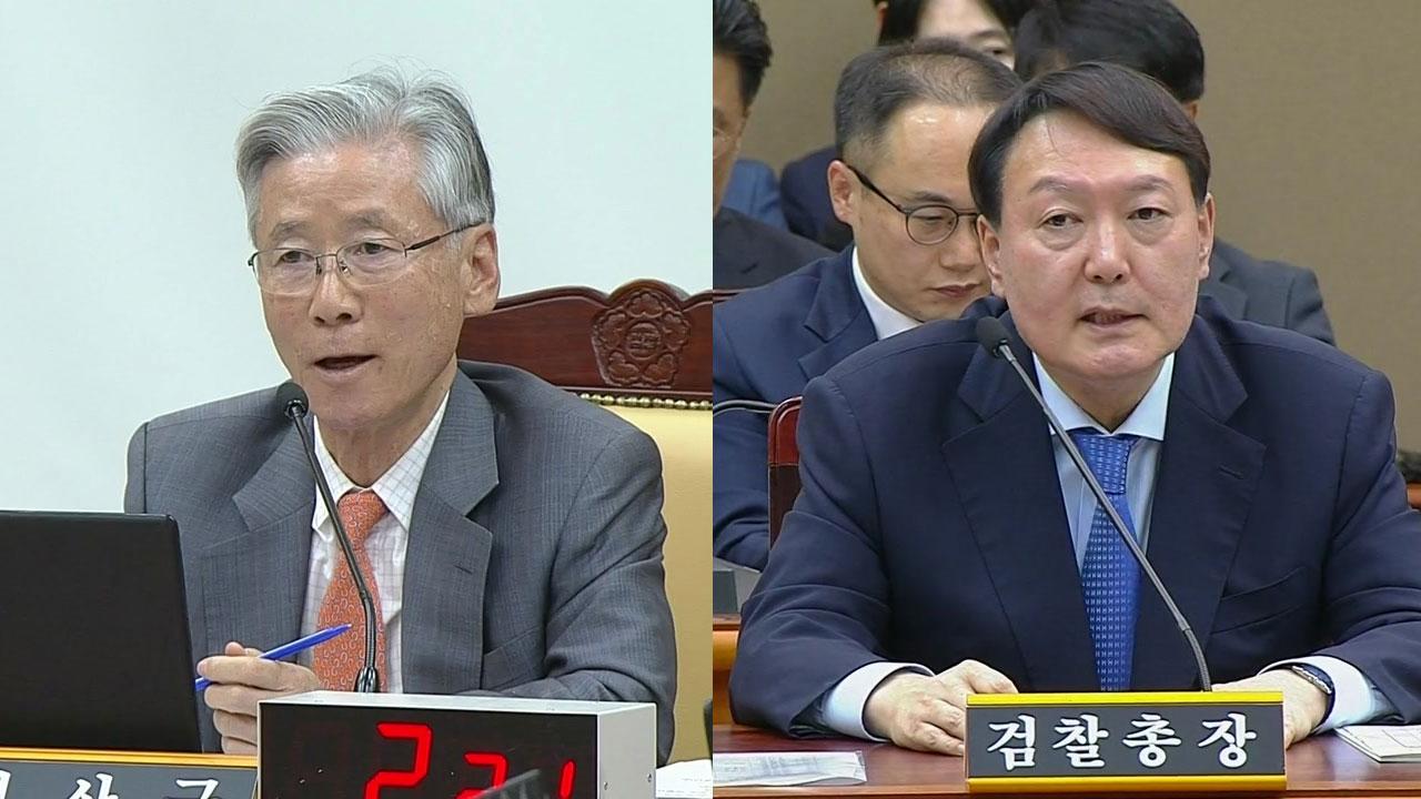 여상규, 대검 국감서 또 '셀프 변론'...윤석열, 패트-정경심 비교에 '발끈'