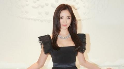 [Y패션] 송혜교, 쇼메 디너쇼 포착…고혹적 블랙 드레스 자태