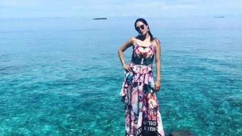 """강남♥이상화, 몰디브 신혼여행 공개 """"하늘, 바다, 와이프 다 예뻐"""""""