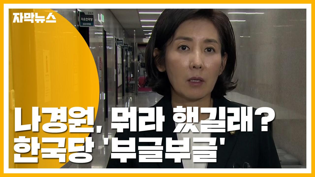 [자막뉴스] 한국당, 나경원 한마디에 '부글부글'...뭐라 했길래?