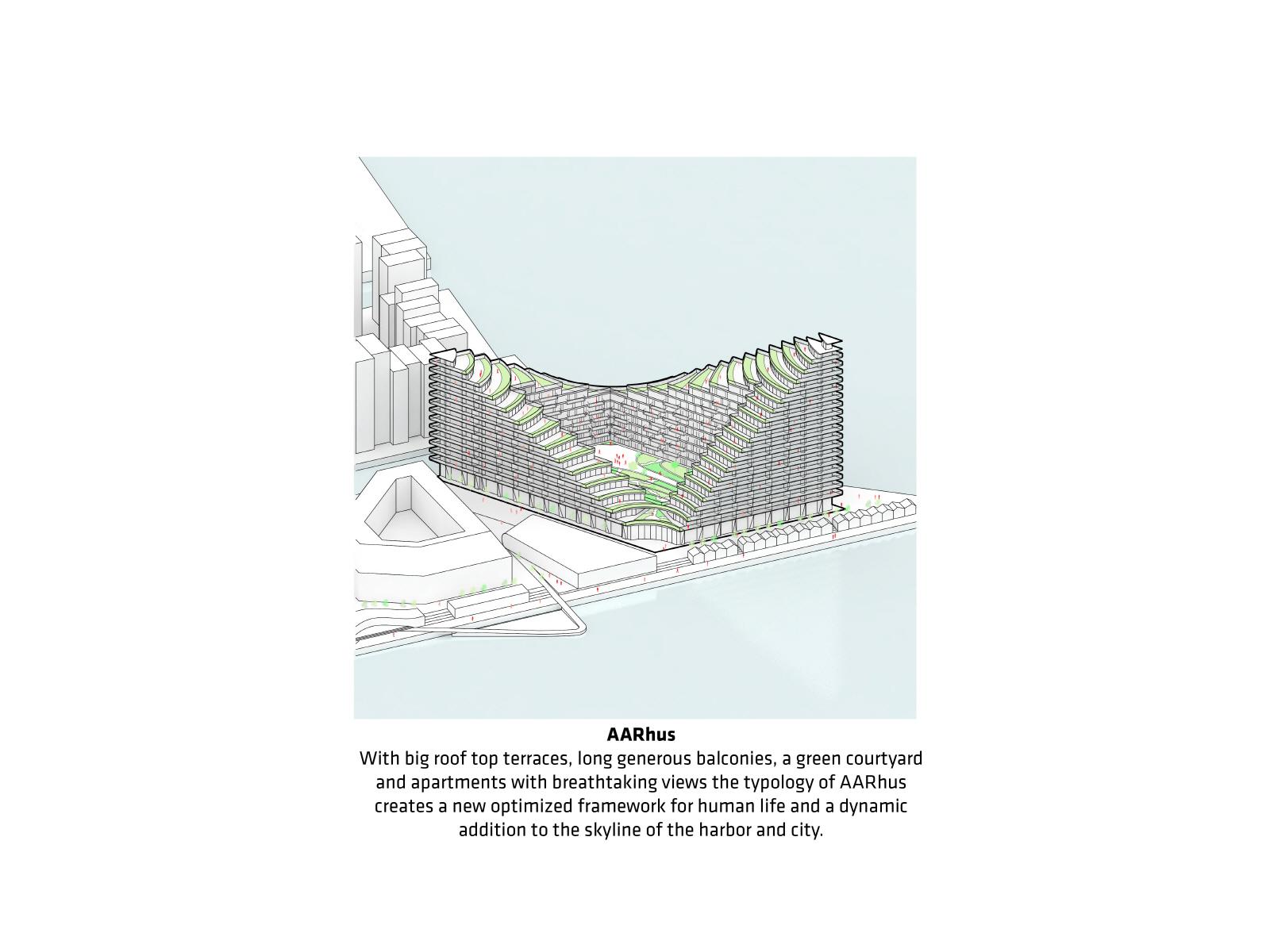 〔안정원의 건축 칼럼〕 계단식 발코니와 중정형 루프 테라스가 빚어내는 입체적인 공간 2