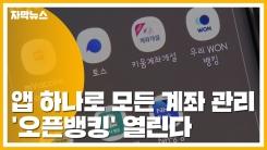 [자막뉴스] 앱 하나로 모든 계좌 관리...'오픈뱅킹' 열린다