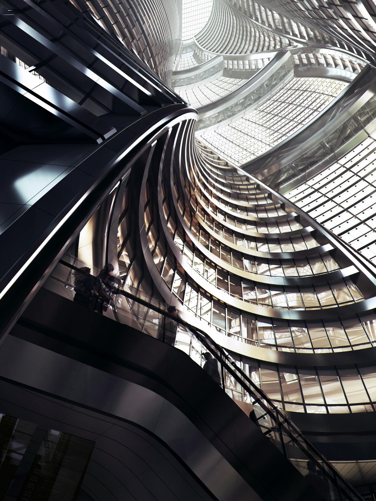 〔안정원의 건축 칼럼〕 190m 거대한 아트리움을 품고 있는 207m 초고층타워