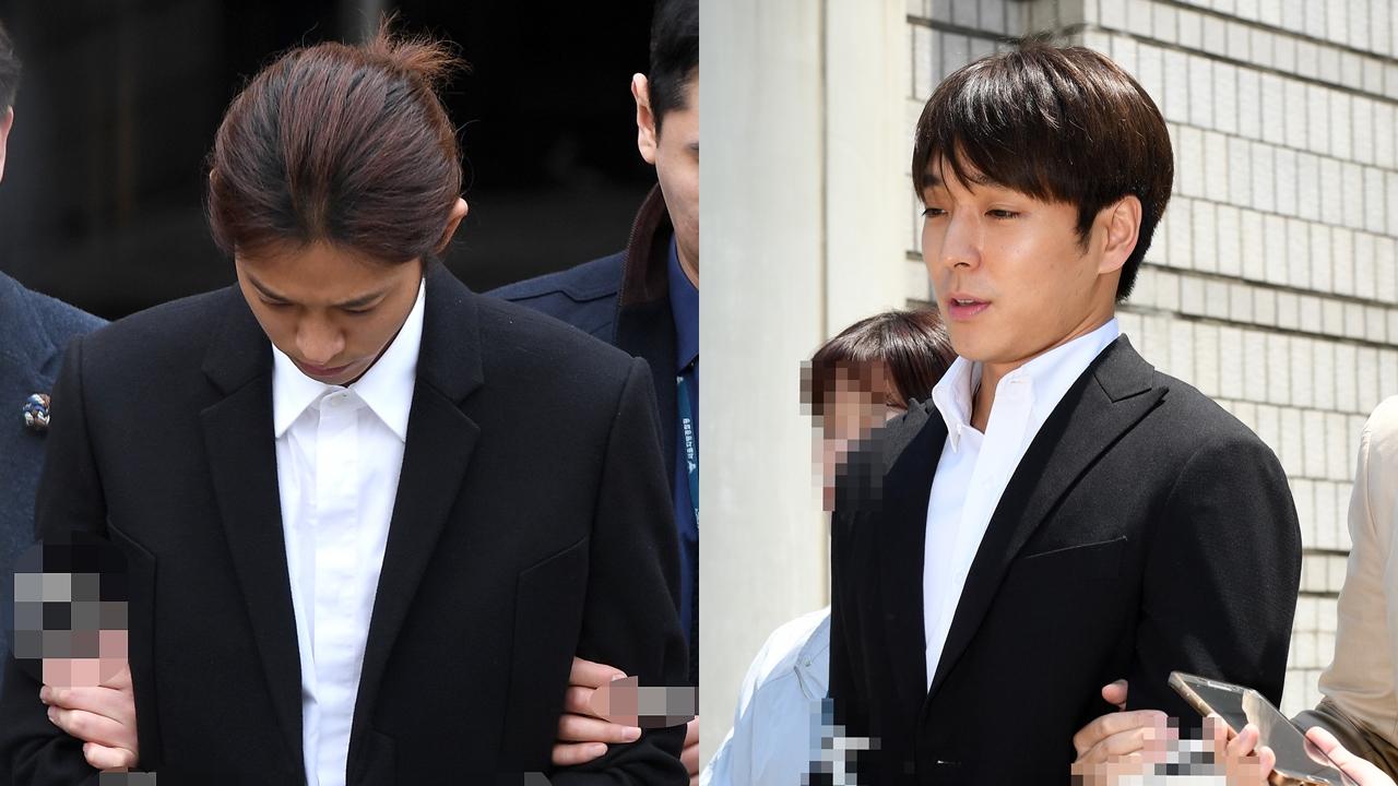 '집단 성폭행 혐의' 정준영·최종훈의 최후진술