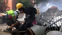 """홍콩 경찰, '최후 보루' 홍콩이공대 봉쇄...""""시위대 100명 저항"""""""