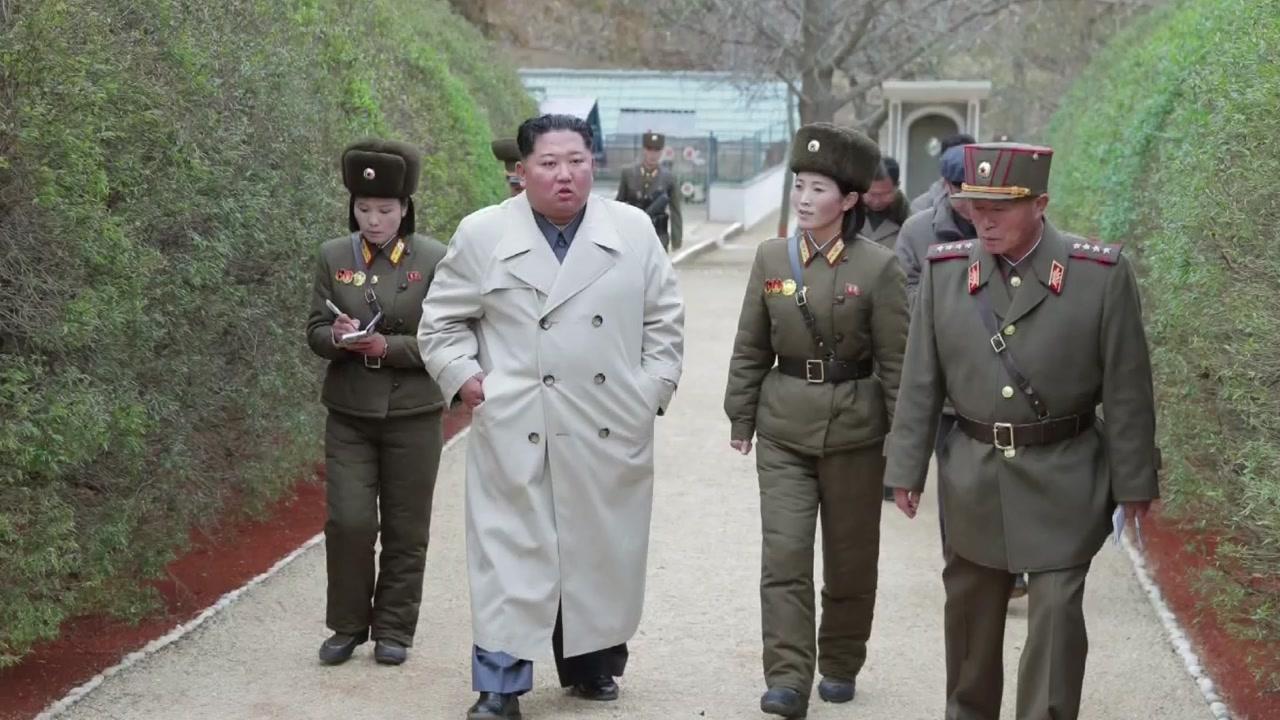 """서해 접경지역 간 김정은 """"한번 쏴 봐라""""...""""군사합의 위반 유감"""""""