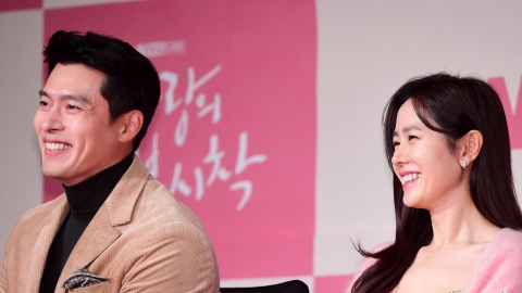 """[Y현장] '사랑의 불시착' 현빈·손예진 """"두 번의 열애설? 작품 선택에 영향無"""""""