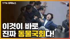 [자막뉴스] 뒤엉키고 밀치고 본회의 아수라장...동물국회 정점