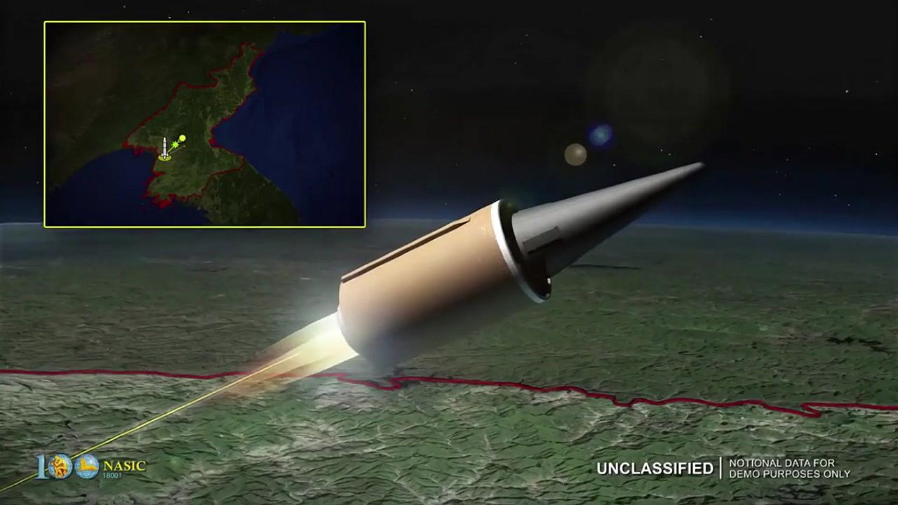 美공군, 北 가상 ICBM 대응 영상 공개...대북 압박
