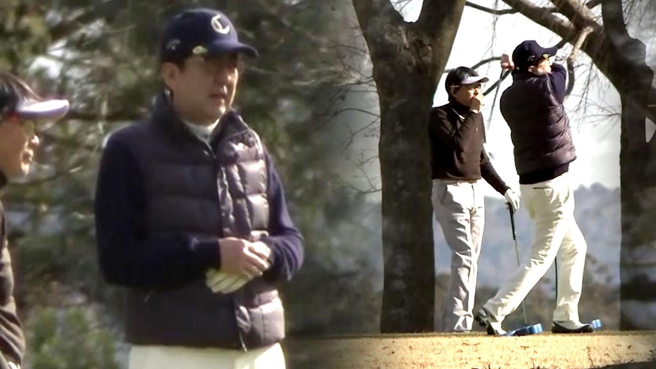 자위대 보낼 중동 일촉즉발인데 아베는 '골프 삼매경'