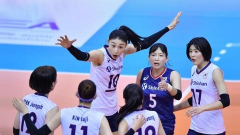 '3회 연속 올림픽 도전' 산뜻한 출발...여자배구 가볍게 승리