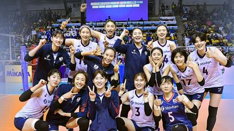 여자배구, 타이완 꺾고 결승 진출...도쿄행 티켓 눈앞